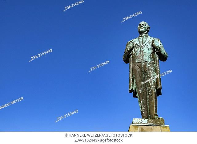 Jon Sigurdsson Monument in the center of Reykjavik, Iceland. Leader of the 19th century independence