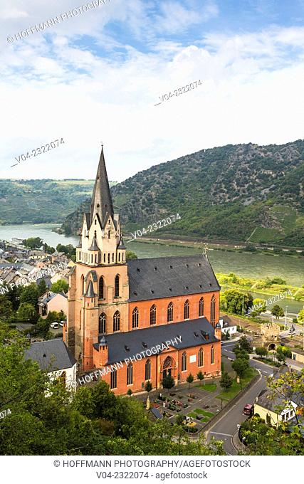 14th century Liebfrauenkirche (Church of our Lady) in Oberwesel, Rhineland-Palatinate, Germany, Europe