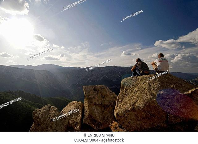 Gorropu view from road SS 125, Urzulei, Supramonte, Sardinia, Italy