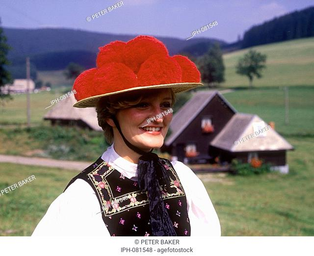 Local Black Forest Girl in regional costume