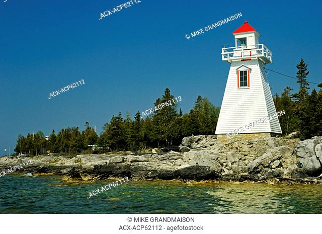 lighthouse on Georgian Bay , South Baymouth, Manitoulin Island, Ontario, Canada