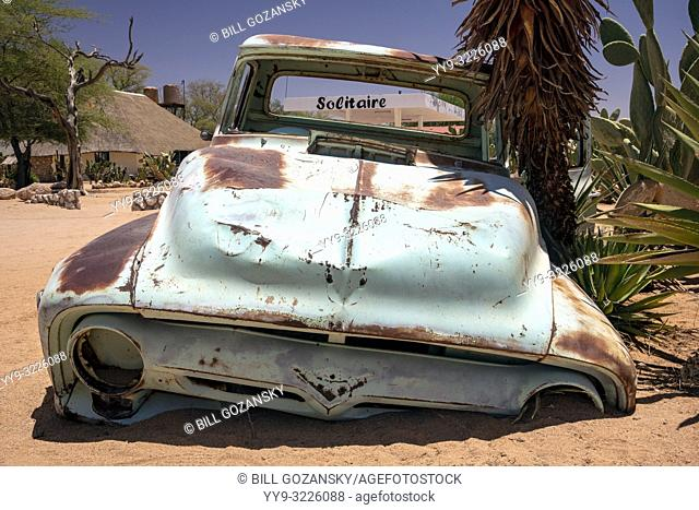 Abandoned car in Solitaire, Khomas Region, Namibia, Africa