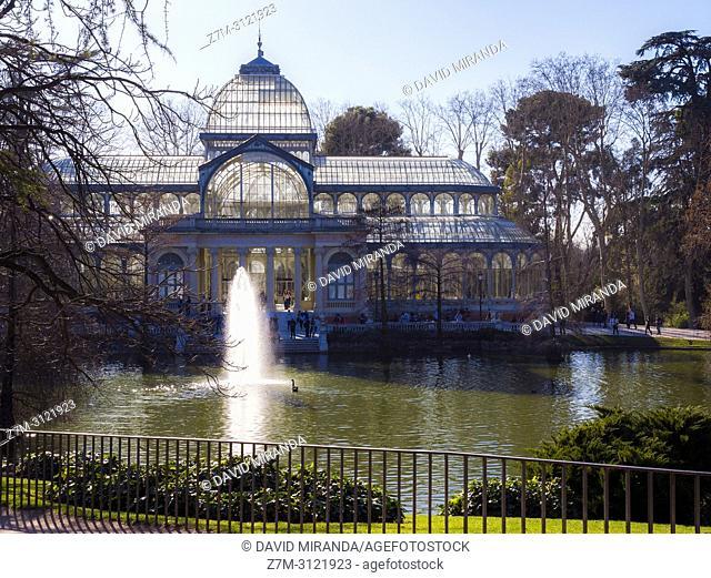 Palacio de Cristal. Parque de El Retiro. Madrid, Spain