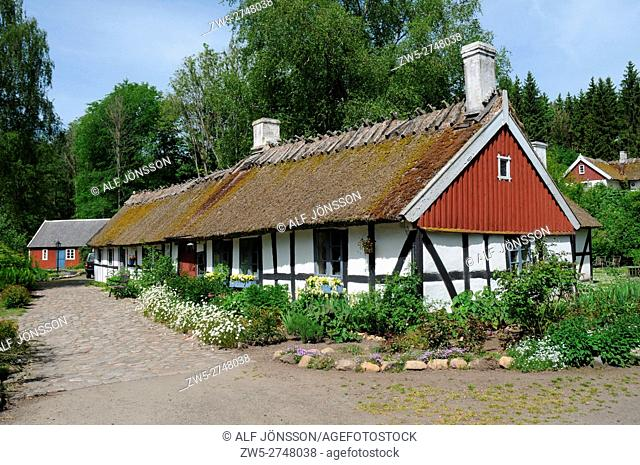 Typical halftimbered house in Scania, South Sweden