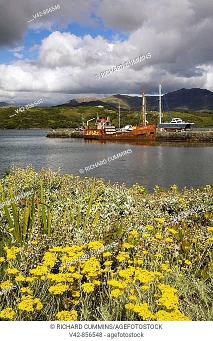 Abandoned Ship, Letterfrack Pier, Connemara, County Galway, Ireland