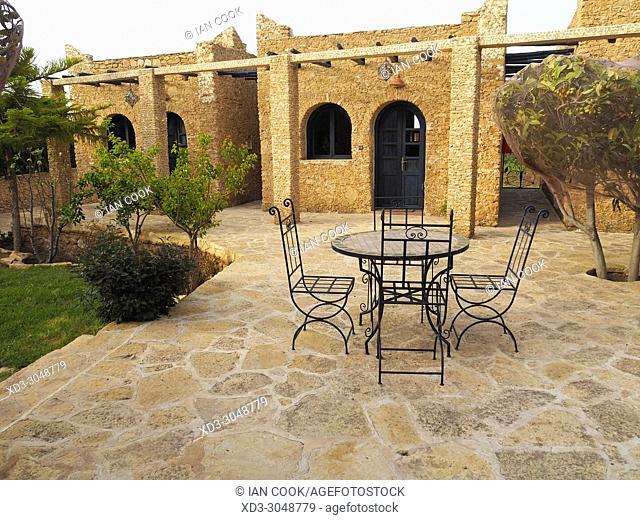 guest rooms at La Val dâ. . Argan vineyard, Ounagha, Morocco