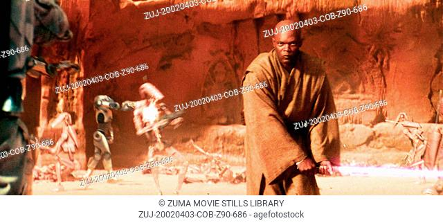 Apr 03, 2002; Hollywood, CA, USA; Actor SAMUEL L JACKSON as Jedi Council Leader Mace Windu in Star Wars: Episode II - Attack of the Clones