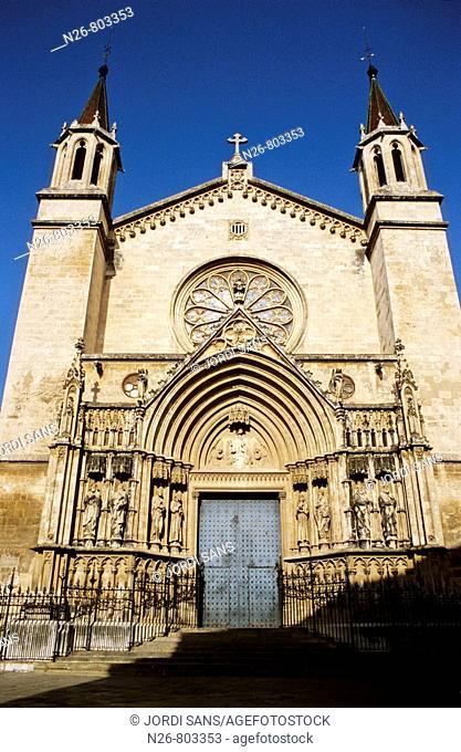 Basílica de Santa Maria. Gótica. Siglo  XIII. Vilafranca del Penedés. España, Catalunya, Barcelona, Penedés