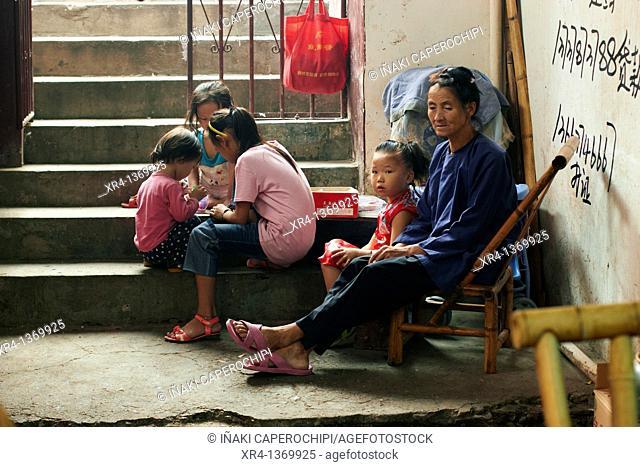 Family, Market Rongjiang, Rongjiang, Guizhou, China