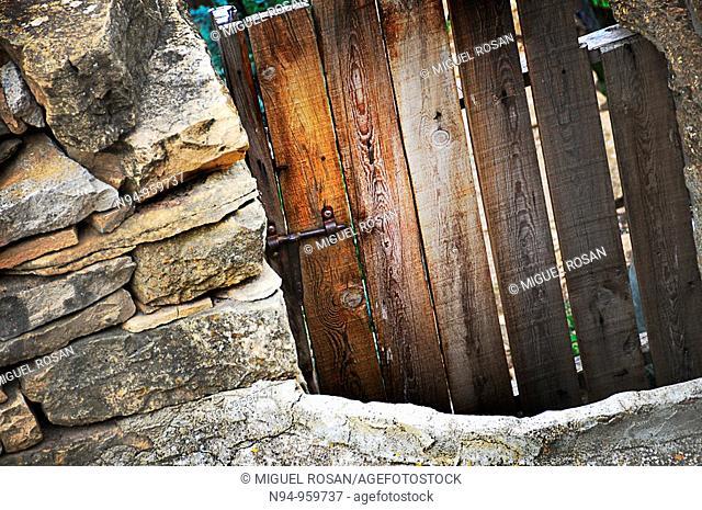 Barn wooden door