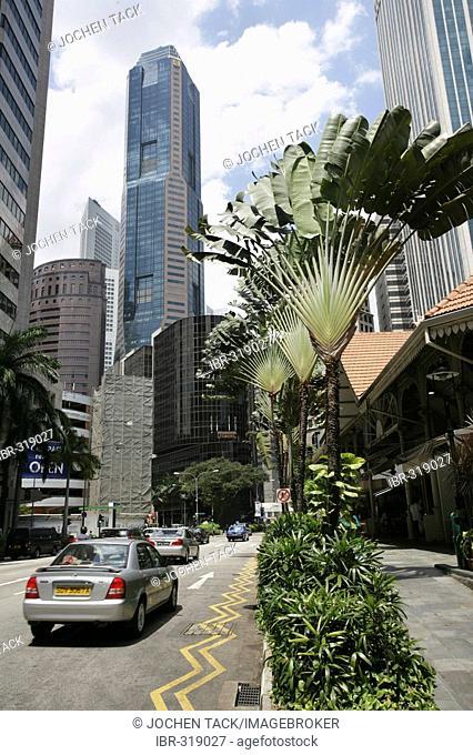 SGP Singapore: Central Business District Telok Ayer Street. |