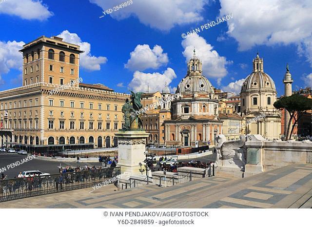 Piazza Madonna di Loreto, Rome, Italy