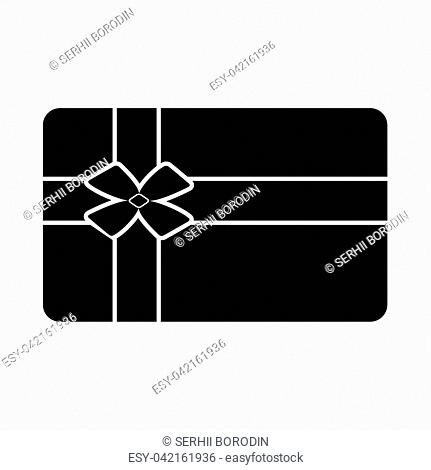 Gift card it is black icon . Flat style