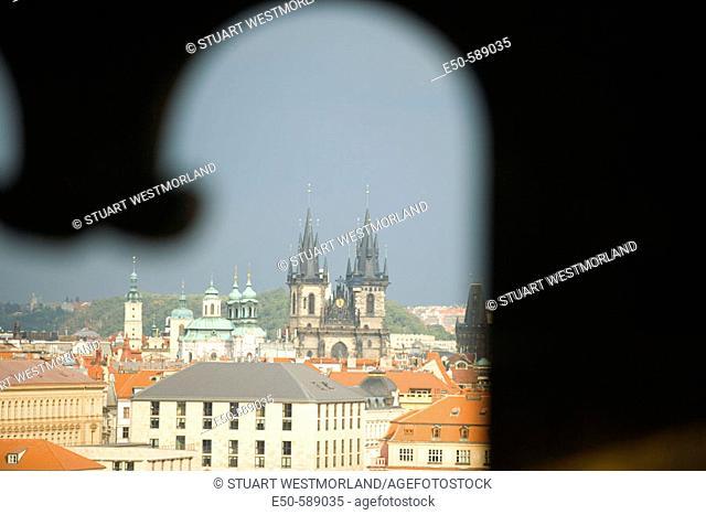 View from Lesser Town Bridge Tower, Prague, Czech Republic