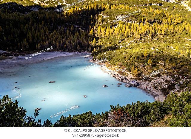 Sorapis lake,Cortina d'Ampezzo,Belluno district,Veneto,Italy,Europe