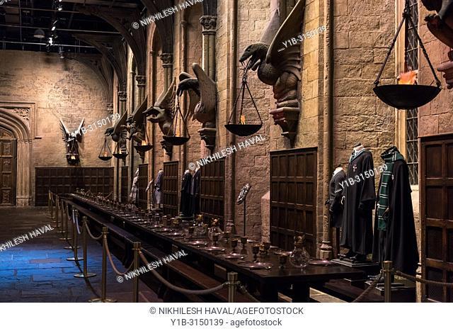 The Great Hall, Making of Harry Potter, Warner Bros. Studio Tour, Leavesden, London