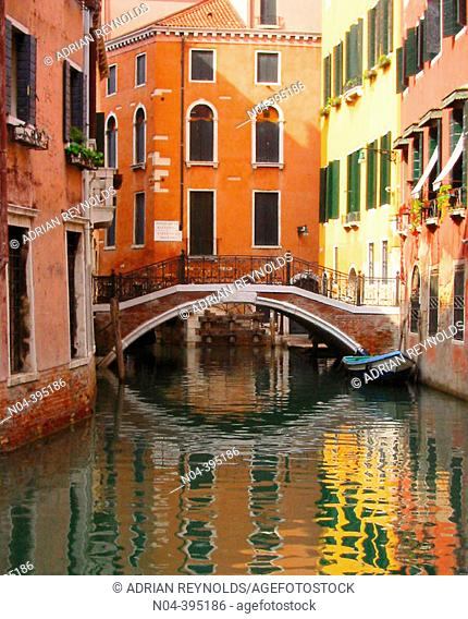 Quiet canal near Piazza San Marco, Venice, Italy