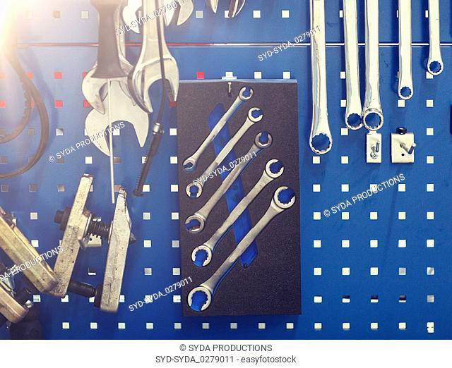 tools set at car workshop