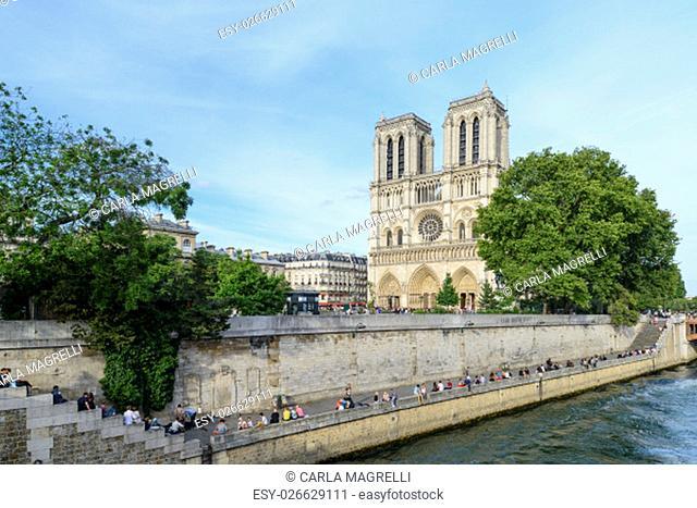 France, Ile-de-France, Paris, Île de la Cité, Île Saint-Louis, Notre Dame de Paris