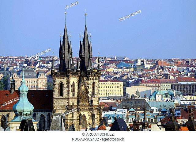 Church of Our Lady before Tyn, Old Town Square, old town, Prague, Bohemia, Czech Republic