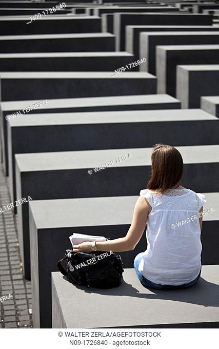 Europe, Germany, Holocaust Memorial in Berlin