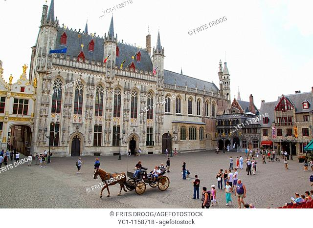 townhall of Bruges at the Burg, Bruges, Belgium
