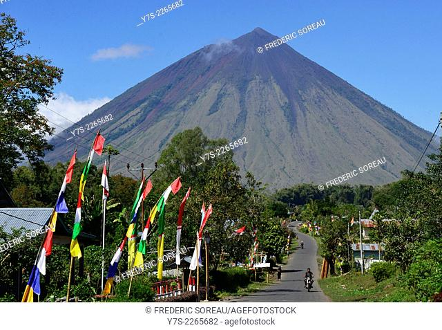 Inerie volcano in Bajawa, Flores, Indonesia, South East Asia