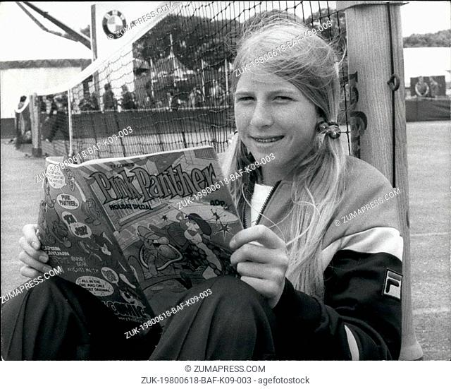 Jun. 18, 1980 - June 18th 1980 America?¢'Ǩ'Ñ¢s youngest tennis star 15 year old Andrea Jaeger wins at Eastbourne ?¢'Ǩ'Äú Light reading for 15 year old Andrea...