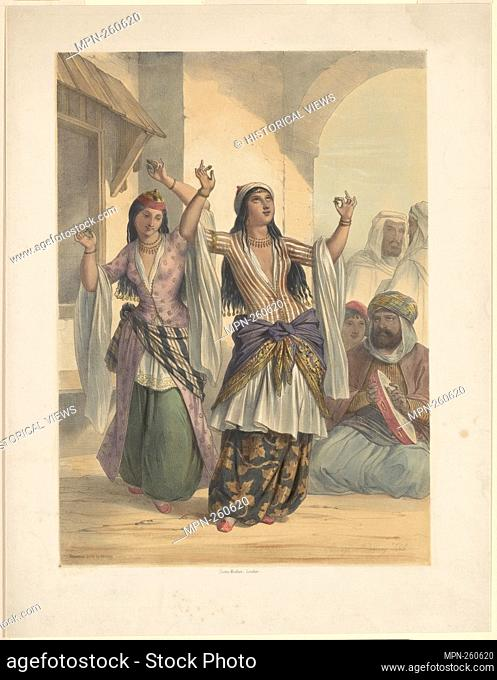 [Dancing girls]. Devéria, Achille, 1800-1857 (Lithographer). Prints depicting dance Subjects. Date Issued: 1850 - 1859 (Questionable) Place: London Publisher:...
