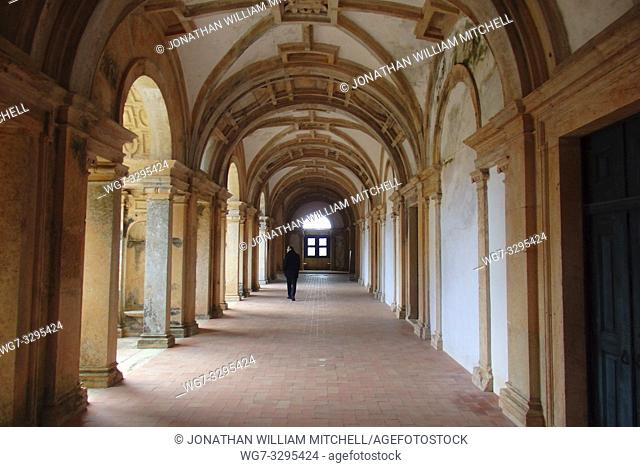 PORTUGAL Tomar -- 2015 -- The Micha Cloister of the Convento de Cristo - the one-time headquarters of the Knights Templar in Tomar Portugal
