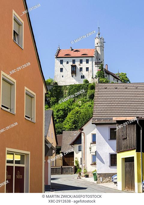 Castle Goessweinstein. Goessweinstein the most important place of pilgrimage in Franconian Switzerland ( Fraenkischen Schweiz)