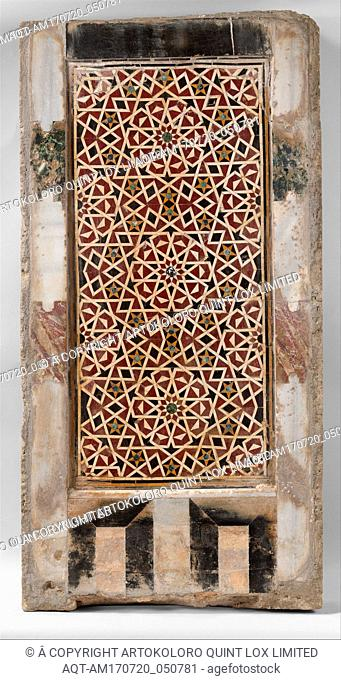 Wall Panel with Geometric Interlace, 15th century, Attributed to Egypt, Cairo, Polychrome marble; mosaic, H. 46 1/4 in. (118