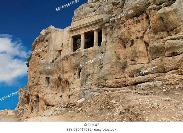 This complex is not a museum or private property, is in the public domain in the Kidron Valley in Jerusalem, and its placement on the microstock do not need...