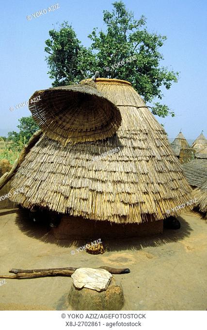 ghana, surrounding of accra. hut