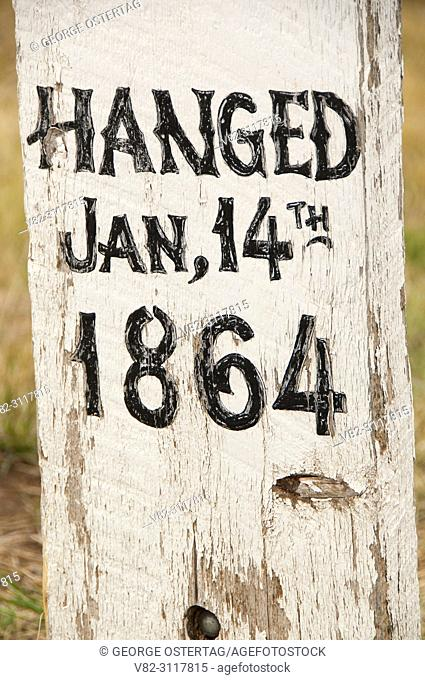 Grave at Boot Hill Cemetery, Virginia City National Historic Landmark District, Montana