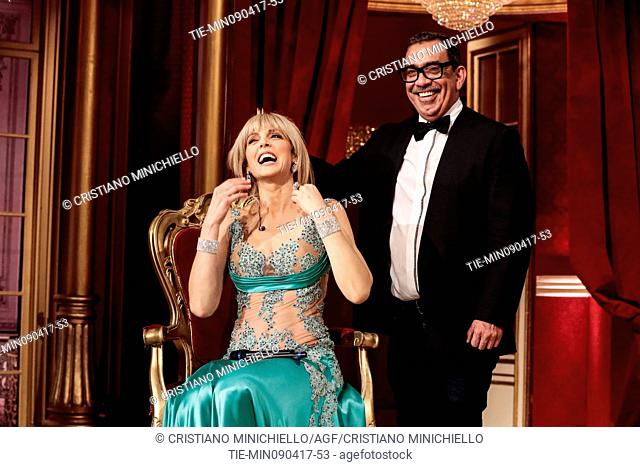 Marla Maples with Guillermo Mariotto guest at the tv show Ballando con le stelle, Rome, ITALY, 08-04-2017