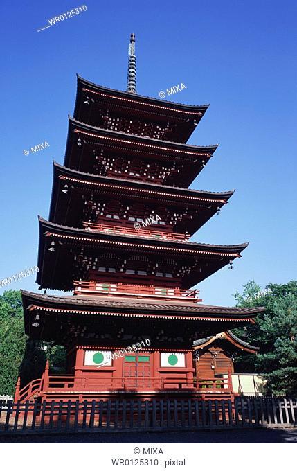 Five storied pagoda in Saisyoin Temple