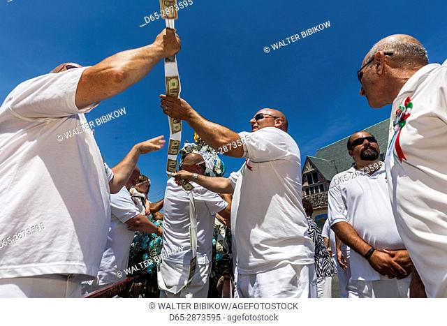 USA, Massachusetts, Cape Ann, Gloucester, St. Peter's Fiesta, Italian-Portuguese fishing community festival, religious procession, St
