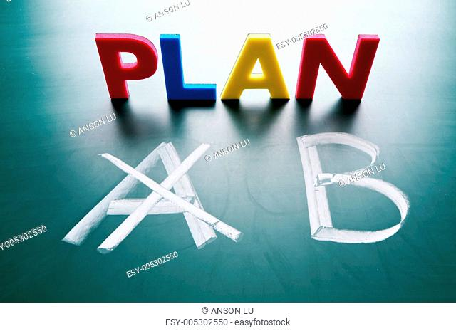 Crossing out Plan A and writing Plan B
