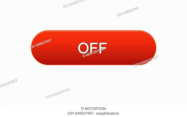 Off web interface button red color, internet site design, online program, stock footage