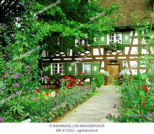 Seefelden Baden-Wuerttemberg Germany upon the Lake Constance house of a fisherman