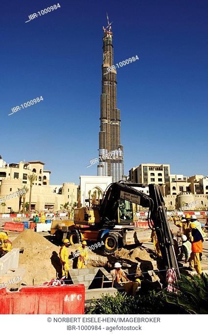 Highest skyscaper in the world, Burj Dubai, Dubai, United Arab Emirates, UAE, Middle East