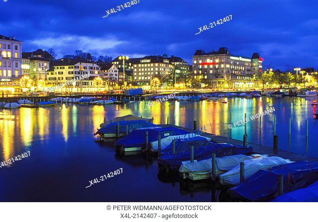 Limmat, Switzerland, canton Zurich, Zurich