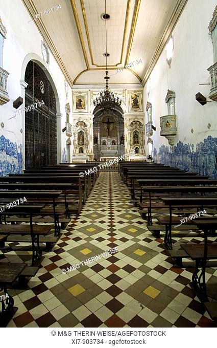 Convento e Igreja de Santo António, Convent and Church of Santo António, Interior and azulejos, Painted Tiles, Recife, Pernambuco state, Brazil