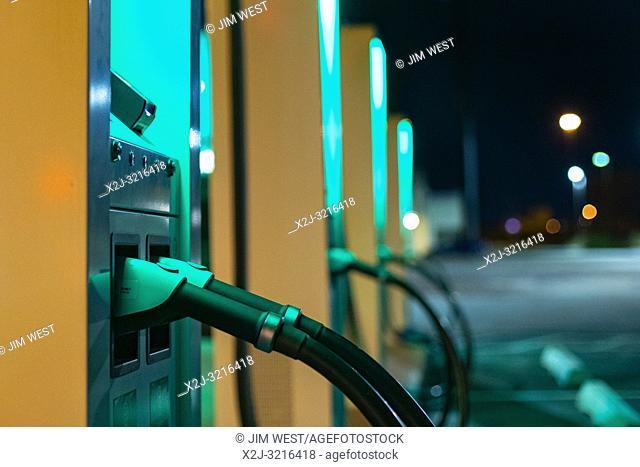 Grand Island, Nebraska - An electric vehicle charging station