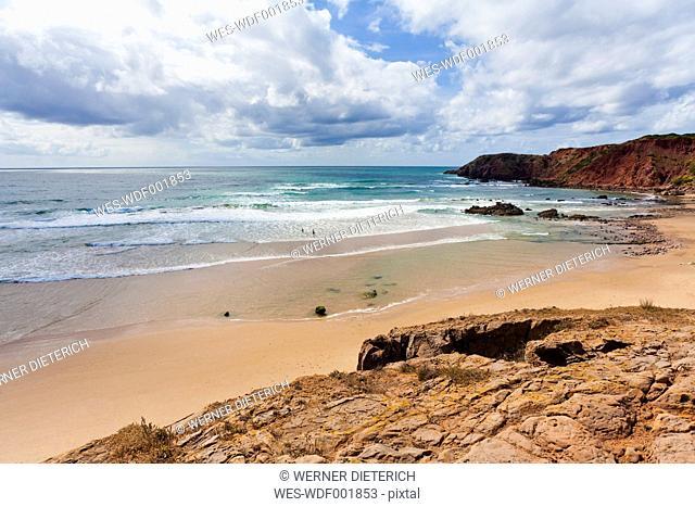 Portugal, Lagos, View of Praia do Amado beach