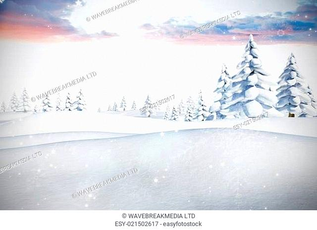 Composite image of snow
