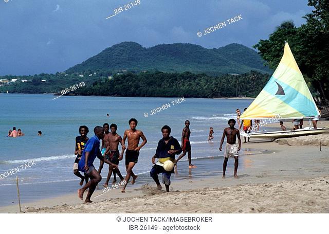 LCA, Saint Lucia: the Choc Bay near Castries, Point Seraphine