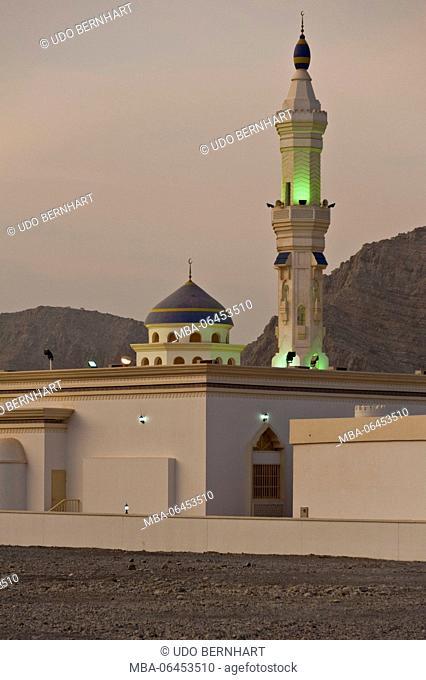 Arabia, Arabian peninsula, Sultanate of Oman, peninsula Musandam, Khasab, Sharja mosque