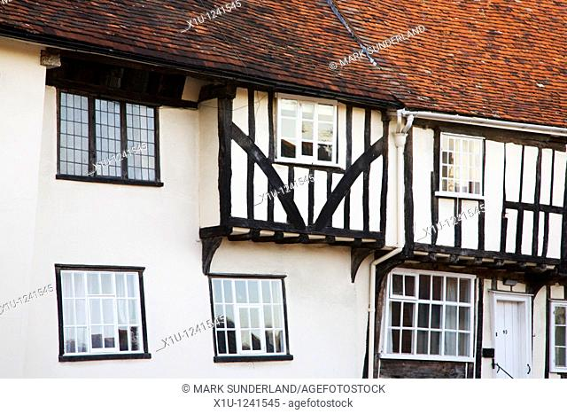Half Timbered Houses Lavenham Suffolk England